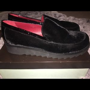 Donald J Pliner Black velvet loafers,10 M, NWT